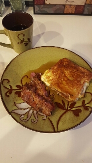 Sunday Coffee and Stuffed French Toast