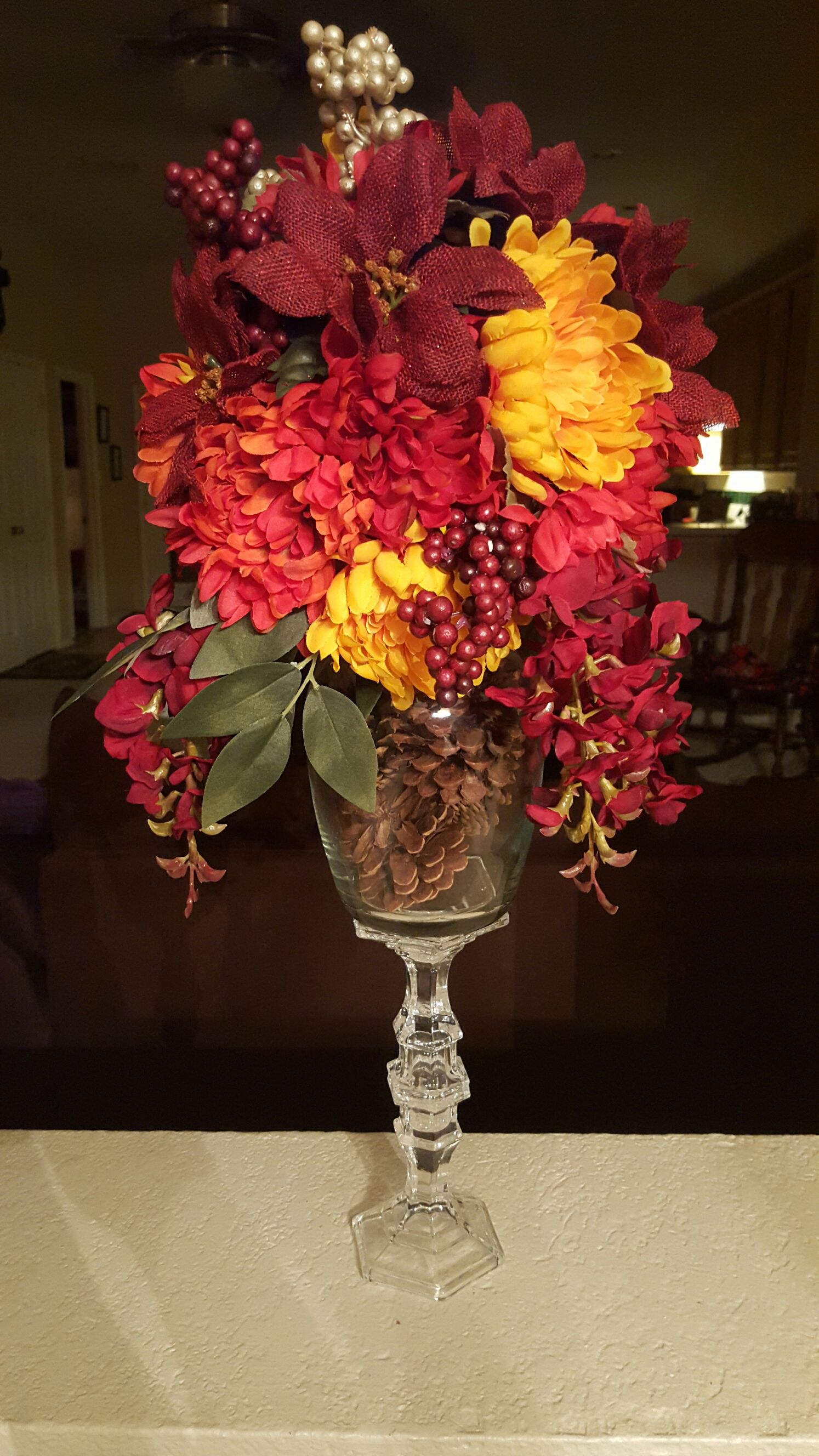 Thanksgiving fall diy floral centerpiece for under