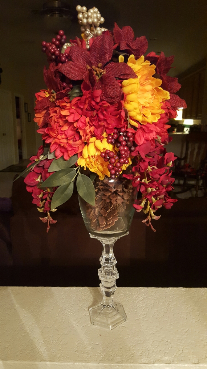 Thanksgiving / Fall DIY Floral Centerpiece for Under $15